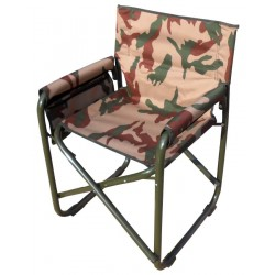 Camping Folding Chair With Arms frame Aluminum Camouflage