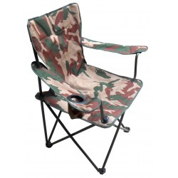 Field Chair With Collapsible Metallic Frame