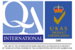 Certified of ISO 9001 QA-UKAS